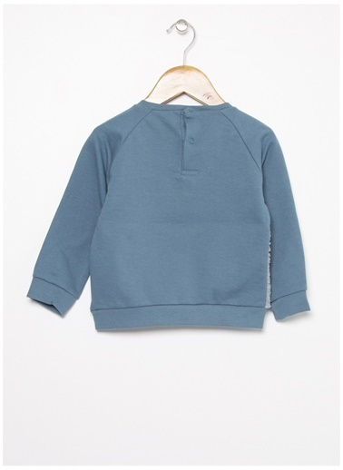 Mammaramma Mammaramma Nakışlı Mavi Bebek Sweatshirt Mavi